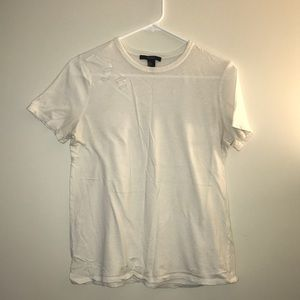 Forever 21 distressed T-shirt | White